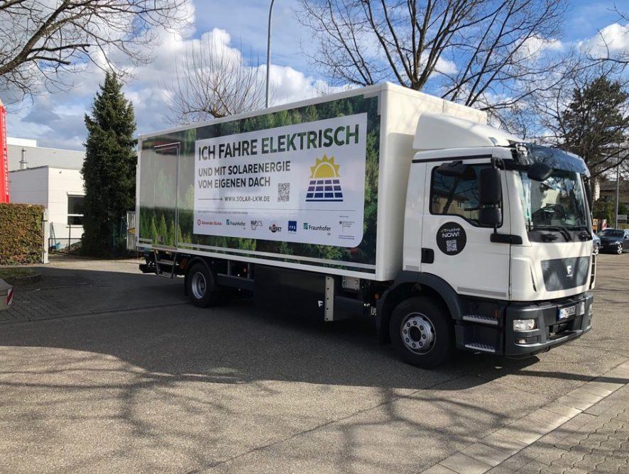 Фотоэлектрические модули скоро появятся на грузовиках в Германии
